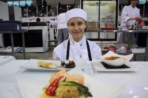 Katherine Bowen winning the gold for Centre Wellington at Provincial Skills Competition