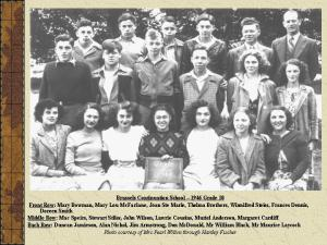 A random Grade 10 class from 1946. Nice hair back then!